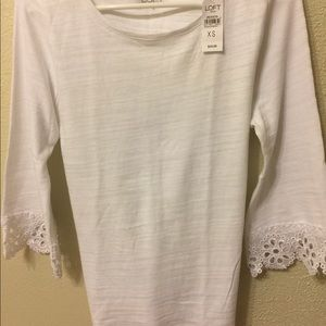 White cotton blouse by Loft